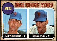 1968 Rookie Stars - Jerry Koosman, Nolan Ryan [GOOD]
