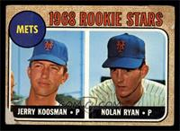 1968 Rookie Stars - Jerry Koosman, Nolan Ryan [POOR]