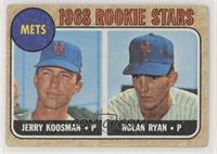 Rookie Stars (Jerry Koosman, Nolan Ryan) [GoodtoVG‑EX]