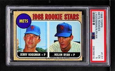 1968 Topps - [Base] #177 - Rookie Stars (Jerry Koosman, Nolan Ryan) [PSA5EX]