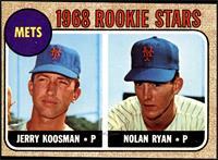 Rookie Stars (Jerry Koosman, Nolan Ryan) [EX]