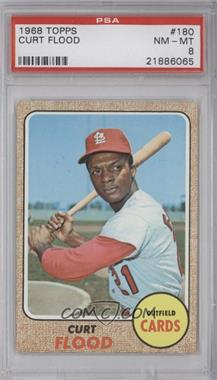 1968 Topps - [Base] #180 - Curt Flood [PSA 8]