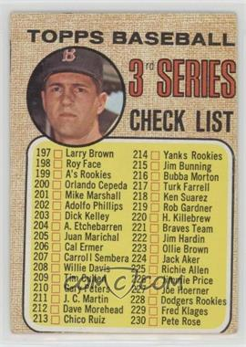 "1968 Topps - [Base] #192.2 - Checklist - Carl Yastrzemski (""To increase the...""; B on Cap Not Fully Visible)"