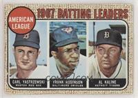 1967 AL Batting Leaders (Carl Yastrzemski, Frank Robinson, Al Kaline) [Poor&nbs…