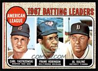 1967 AL Batting Leaders (Carl Yastrzemski, Frank Robinson, Al Kaline) [EX]