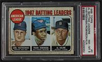 1967 AL Batting Leaders (Carl Yastrzemski, Frank Robinson, Al Kaline) [PSA…