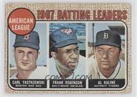 1967 AL Batting Leaders (Carl Yastrzemski, Frank Robinson, Al Kaline) [Very&nbs…