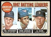 1967 AL Batting Leaders (Carl Yastrzemski, Frank Robinson, Al Kaline) [VG]
