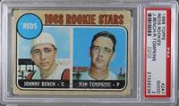 Reds Rookie Stars (Johnny Bench, Ron Tompkins) (