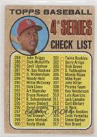 4th Series Checklist 284-317 (Orlando Cepeda) (Copyright on Left) [Good to…