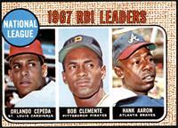 1967 NL RBI Leaders (Orlando Cepeda, Roberto Clemente, Hank Aaron) [GOOD]