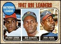 1967 NL RBI Leaders (Orlando Cepeda, Roberto Clemente, Hank Aaron) [EX+]