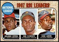 1967 NL RBI Leaders (Orlando Cepeda, Roberto Clemente, Hank Aaron) [EXMT]