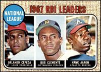 1967 NL RBI Leaders (Orlando Cepeda, Roberto Clemente, Hank Aaron) [EX]