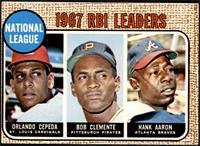 1967 NL RBI Leaders (Orlando Cepeda, Roberto Clemente, Hank Aaron) [VGEX]