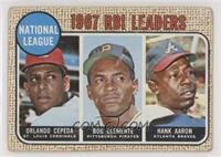 1967 NL RBI Leaders (Orlando Cepeda, Roberto Clemente, Hank Aaron) [Goodt…