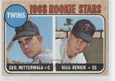 1968 Topps - [Base] #301 - 1968 Rookie Stars - George Mitterwald, Rick Renick