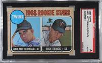 Twins Rookie Stars (George Mitterwald, Rick Renick) [SGCAuthenticAu…