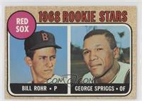1968 Rookie Stars - Billy Rohr, George Spriggs
