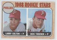 Phillies Rookie Stars (Larry Colton, Dick Thoenen) [Good to VG‑…