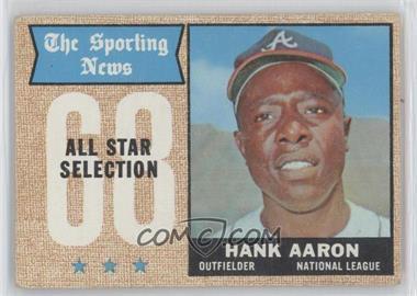 1968 Topps - [Base] #370 - Hank Aaron
