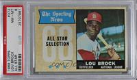 The Sporting News All Star Selection - Lou Brock [PSA 8 NM‑MT]