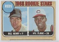 1968 Rookie Stars - Bill Henry, Hal McRae [Poor]