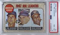 1967 AL RBI Leaders (Carl Yastrzemski, Harmon Killebrew, Frank Robinson) [PSA&n…