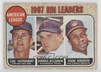 1967 AL RBI Leaders (Carl Yastrzemski, Harmon Killebrew, Frank Robinson) [Poor&…