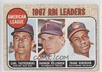 1967 AL RBI Leaders (Carl Yastrzemski, Harmon Killebrew, Frank Robinson) [Good&…