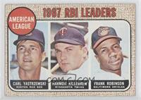 1967 AL RBI Leaders (Carl Yastrzemski, Harmon Killebrew, Frank Robinson)