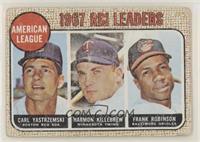 1967 AL RBI Leaders (Carl Yastrzemski, Harmon Killebrew, Frank Robinson) [None&…