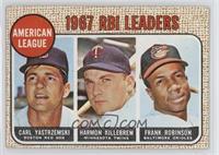 American League 1967 RBI Leaders (Carl Yastrzemski, Harmon Killebrew, Frank Rob…