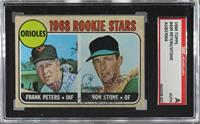 1968 Rookie Stars - Ron Stone, Frank Peters [SGCAuthenticAuthentic]