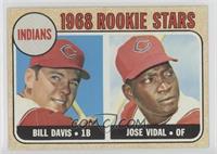 1968 Rookie Stars - Bill Davis, Jose Vidal
