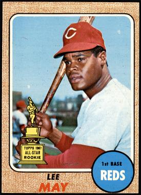 1968 Topps - [Base] #487 - High # - Lee May [EX]