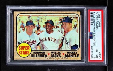 1968 Topps - [Base] #490 - High # - Super Stars (Willie Mays, Mickey Mantle, Harmon Killebrew) [PSA6EX‑MT]