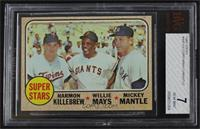 High # - Super Stars (Willie Mays, Mickey Mantle, Harmon Killebrew) [BVG 7…