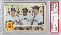 High # - Super Stars (Willie Mays, Mickey Mantle, Harmon Killebrew) [PSA 4…