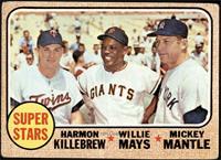 High # - Super Stars (Willie Mays, Mickey Mantle, Harmon Killebrew) [POOR]