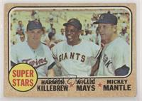 High # - Super Stars (Willie Mays, Mickey Mantle, Harmon Killebrew) [Good…