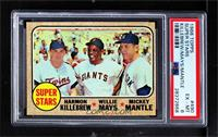 Super Stars (Willie Mays, Mickey Mantle, Harmon Killebrew) [PSA 6 EX&…