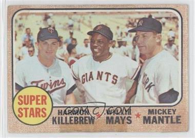 1968 Topps - [Base] #490 - Super Stars (Willie Mays, Mickey Mantle, Harmon Killebrew) [Poor]
