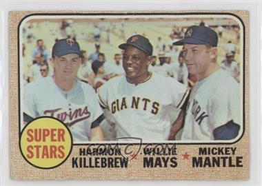 1968 Topps - [Base] #490 - Super Stars (Willie Mays, Mickey Mantle, Harmon Killebrew) [Poor]