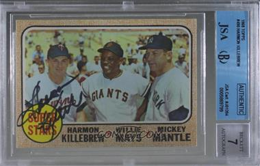 1968 Topps - [Base] #490 - Super Stars (Willie Mays, Mickey Mantle, Harmon Killebrew) [JSA Certified Encased by BGS]