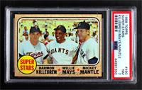 Super Stars (Willie Mays, Mickey Mantle, Harmon Killebrew) [PSA 7 NM]