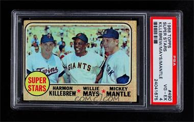 1968 Topps - [Base] #490 - Super Stars (Willie Mays, Mickey Mantle, Harmon Killebrew) [PSA4VG‑EX]
