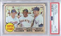 Super Stars (Willie Mays, Mickey Mantle, Harmon Killebrew) [PSA 8 NM&…