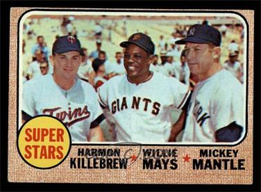 1968 Topps - [Base] #490 - Super Stars (Willie Mays, Mickey Mantle, Harmon Killebrew) [VG]