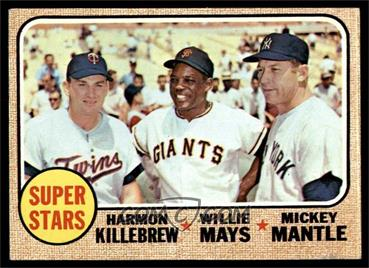 1968 Topps - [Base] #490 - Super Stars (Willie Mays, Mickey Mantle, Harmon Killebrew) [GOOD]